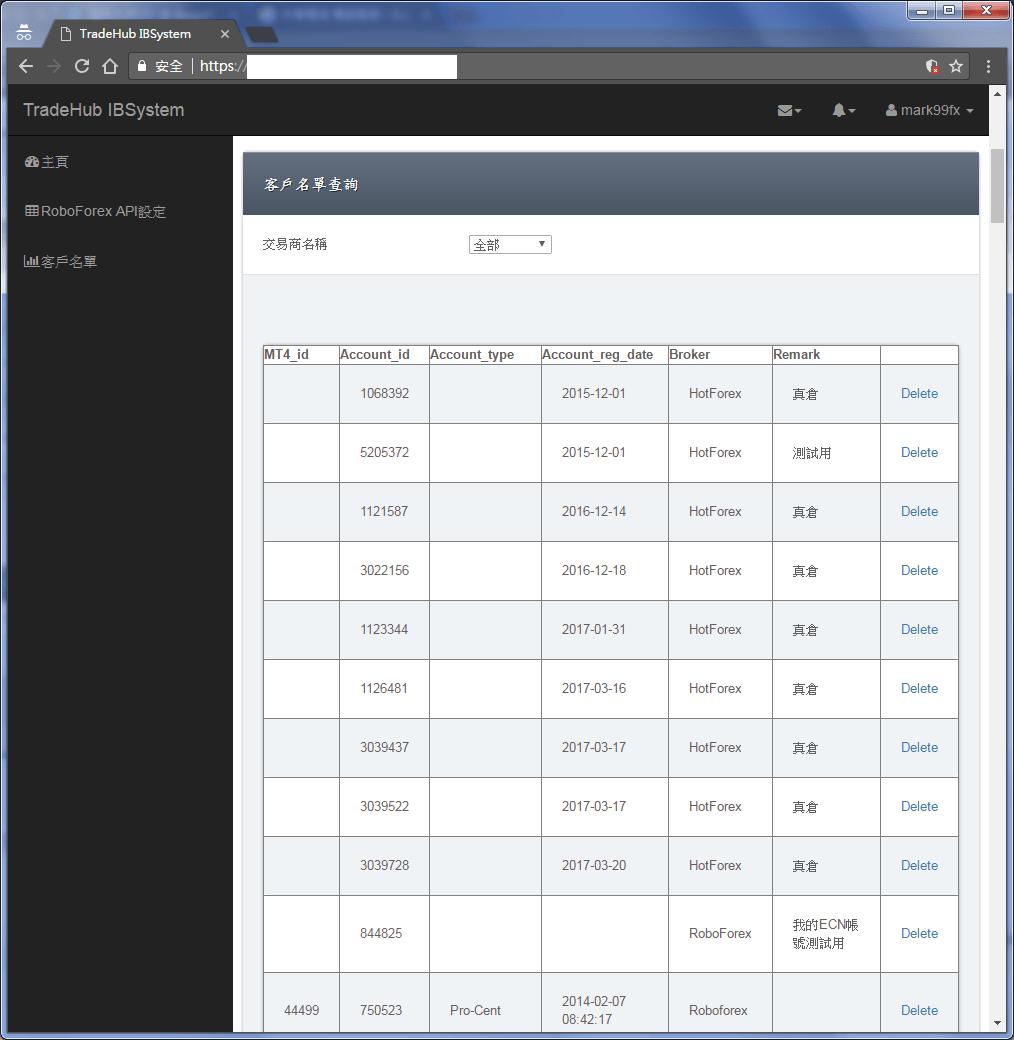 MT4 EA 使用權限帳號查詢 刪除